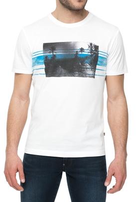 NAPAPIJRI-Ανδρική κοντομάνικη μπλούζα NAPAPIJRI λευκή