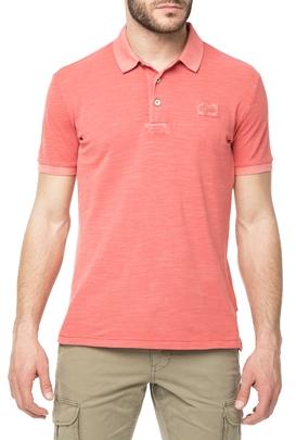 NAPAPIJRI-Ανδρική πόλο μπλούζα NAPAPIJRI κοραλλί
