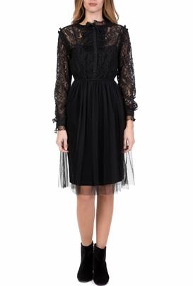 NU-Γυναικείο midi φόρεμα με δαντέλα NU μαύρο 3a1152ccebe