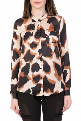 786673c25f9f NU-Γυναικείο μακρυμάνικο πουκάμισο NU μπεζ