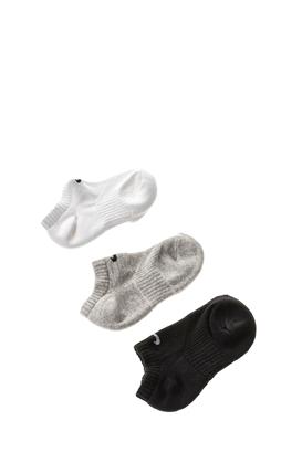 NIKE-Παιδικό σετ κάλτσες NΙKΕ PERF CUSH λευκό-γκρι-μαύρο