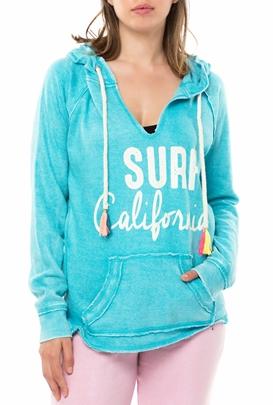 742e396655c3 OCEAN DRIVE-Γυναικεία φούτερ μπλούζα NEW BURNOUT MULTI τιρκουάζ