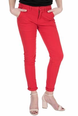 REIKO-Γυναικείο chino παντελόνι REIKO SANDY2BASE18 κόκκινο