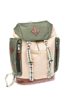 SCOTCH & SODA-Ανδρική τσάντα πλάτης SCOTCH & SODA χακί-μπεζ