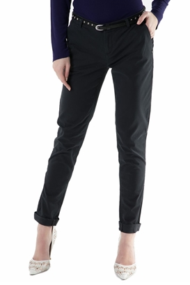 SCOTCH & SODA-Γυναικείο chino παντελόνι SCOTCH & SODA μαύρο