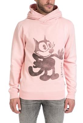SCOTCH & SODA-Ανδρική μακρυμάνικη φούτερ μπλούζα Scotch & Soda ροζ