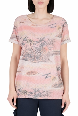 SCOTCH & SODA-Γυναικεία κοντομάνικη μπλούζα SCOTCH & SODA ροζ