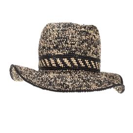 SCOTCH & SODA-Ανδρικό ψάθινο καπέλο SCOTCH & SODA μαύρο