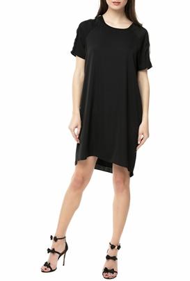 SCOTCH & SODA-Μίνι κοντομάνικο φόρεμα SCOTCH & SODA μαύρο