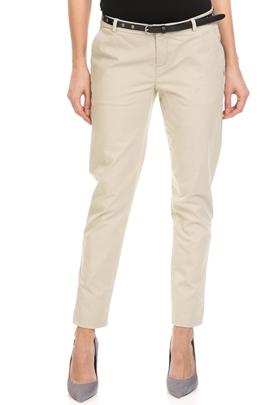 SCOTCH & SODA-Γυναικείο παντελόνι SCOTCH & SODA μπεζ