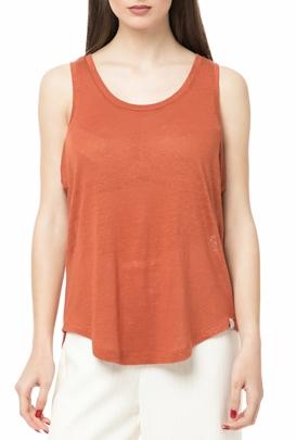 SCOTCH & SODA-Γυναικεία αμάνικη μπλούζα SCOTCH & SODA πορτοκαλί