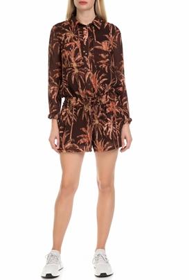 SCOTCH & SODA-Γυναικεία ολόσωμη φόρμα με σορτς SCOTCH & SODA καφέ