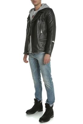 5a700a3bc409 SCOTCH   SODA. Ανδρικό δερμάτινο biker jacket SCOTCH   SODA μαύρο