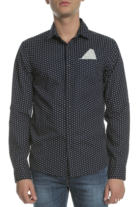 SCOTCH   SODA-Ανδρικό μακρυμάνικο πουκάμισο SCOTCH   SODA μαύρο με print 8509bb30a91