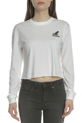 dbd6d9796dd2 SCOTCH   SODA-Γυναικεία cropped μακρυμάνικη μπλούζα SCOTCH   SODA λευκή