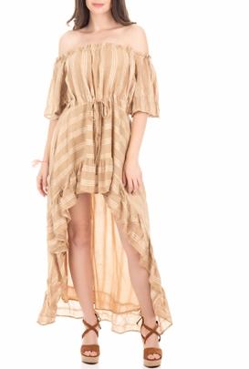 SUNDRESS-Γυναικείο φόρεμα SUNDRESS  ALENAE μπεζ