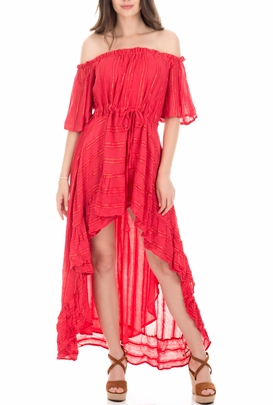 SUNDRESS-Γυναικείο φόρεμα SUNDRESS  ALENAE κόκκινο