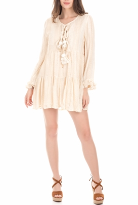 SUNDRESS-Γυναικείο φόρεμα SUNDRESS NEOSHORTE λευκό-εκρού