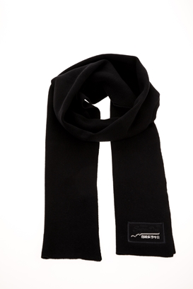 SUPERDRY-Ανδρικό κασκόλ SUPERDRY ORANGE LABEL μαύρο