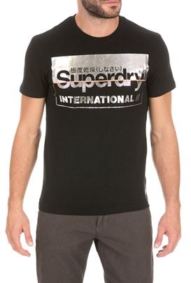 SUPERDRY-Ανδρικό t-shirt SUPERDRY RETRO SPORT μαύρο