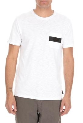 SUPERDRY-Ανδρική κοντομάνικη μπλούζα SUPERDRY SURPLUS GOODS λευκή