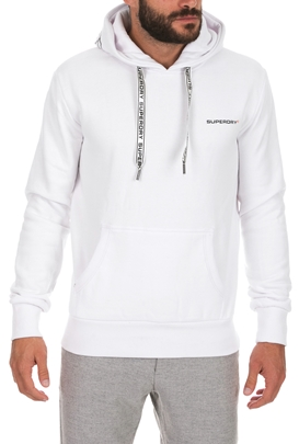 SUPERDRY-Ανδρική φούτερ μπλούζα SUPERDRY URBAN ATHLETIC HOOD λευκή