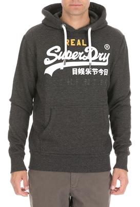 SUPERDRY-Ανδρική φούτερ μπλούζα SUPERDRY VINTAGE LOGO γκρι