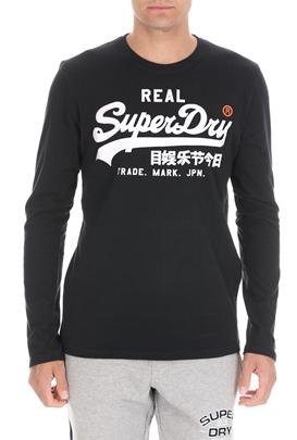 SUPERDRY-Ανδρική μπλούζα SUPERDRY VINTAGE μπλε
