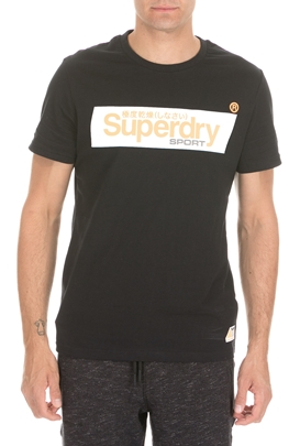SUPERDRY-Ανδρική κοντομάνικη μπλούζα SUPERDRY SPEED BOX μαύρη