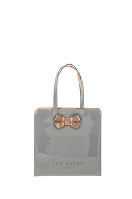 TED BAKER-Γυναικεία τσάντα KRISCON LARGE ICON TED BAKER γκρι