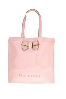 TED BAKER-Γυναικεία τσάντα πλάτης VALLCON BOW DETAIL LARGE ICON ροζ
