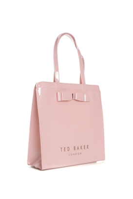 TED BAKER-Γυναικεία τσάντα ώμου TED BAKER ALMACON BOW DETAIL LARGE ροζ 2c8004d186d