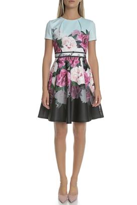 d94b013cde TED BAKER-Γυναικείο μίνιι φόρεμα TED BAKER πολύχρωμο